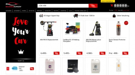 Bilvårdskungen webbplats