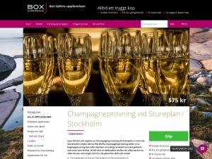 "Avdelningen ""Champagneprovning"" hos Box Experience"