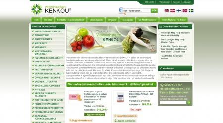 Vitaminbutiken Kenkou webbplats