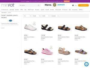 """Avdelningen """"Scholl sandaler"""" hos Minfot"""