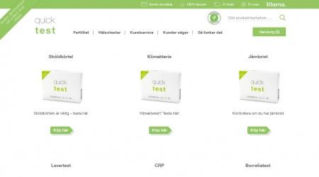 Quicktest webbplats