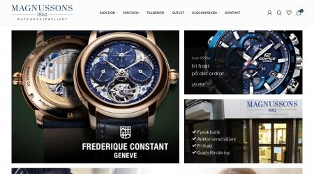 Magnussons Ur webbplats