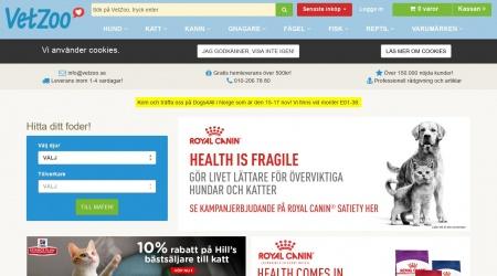 VetZoo webbplats