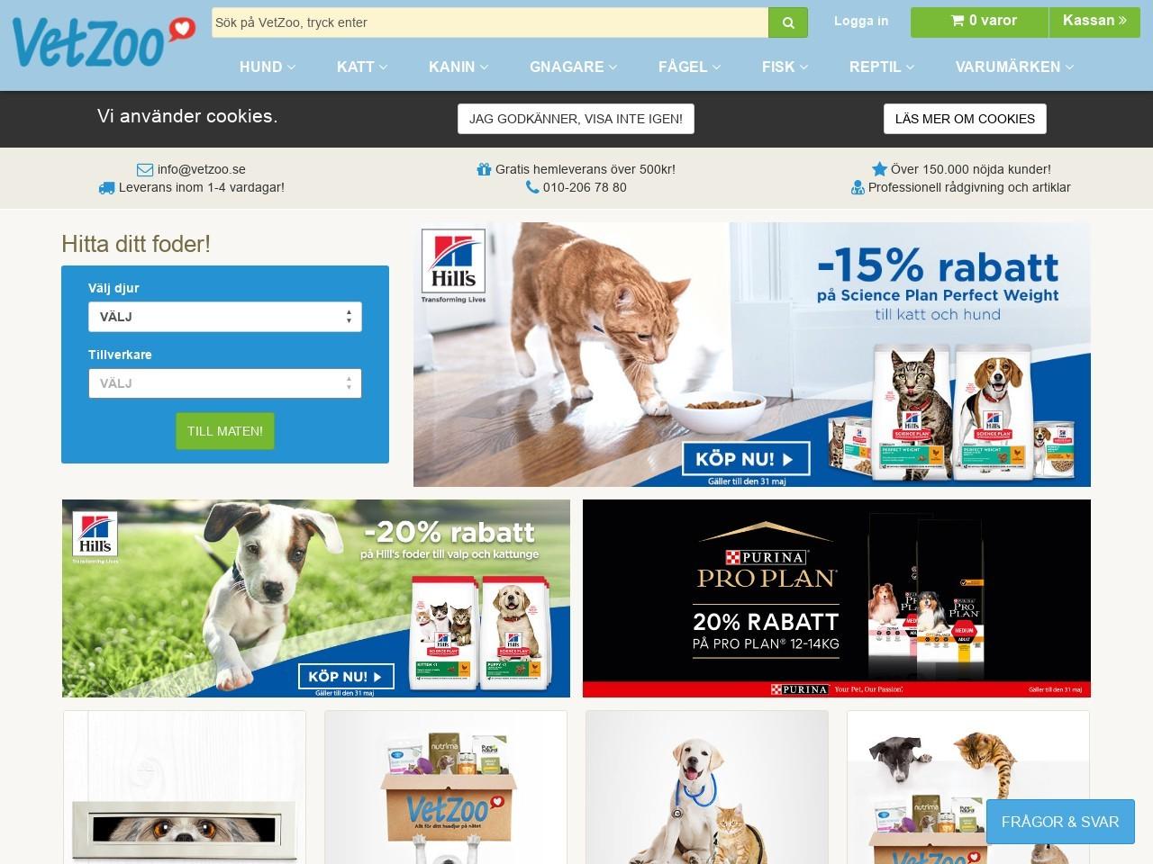 "Avdelningen ""Royal Canin kattmat"" hos VetZoo"