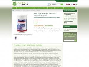 """Avdelningen """"Vitlökstabletter"""" hos Vitaminbutiken Kenkou"""