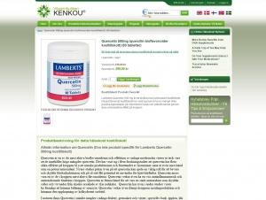 "Avdelningen ""Quercetin"" hos Vitaminbutiken Kenkou"