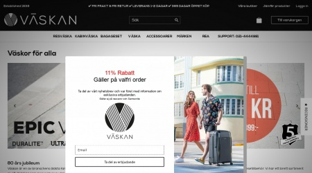 Väskan webbplats