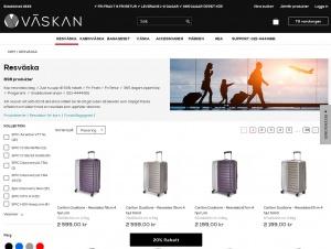 """Avdelningen """"Resväskor"""" hos Väskan"""