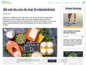 """Avdelningen """"D-vitaminbrist"""" hos Svensk Provtagning"""