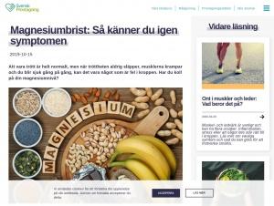 """Avdelningen """"Magnesiumbrist"""" hos Svensk Provtagning"""