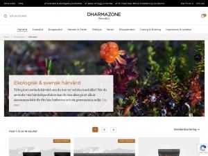 """Avdelningen """"Hårvårdsprodukter"""" hos Dharmazone"""