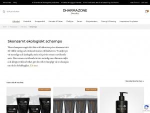 """Avdelningen """"Ekologiskt schampo"""" hos Dharmazone"""