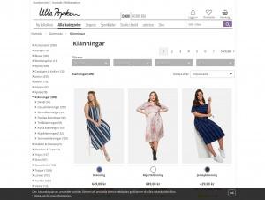 """Avdelningen """"Klänningar stora storlekar"""" hos Ulla Popken"""
