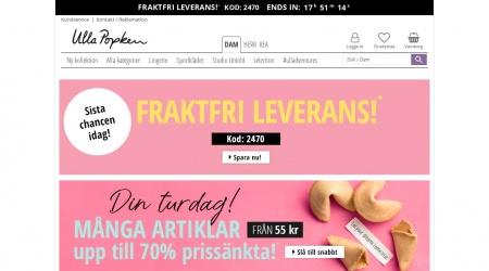 Ulla Popken webbplats