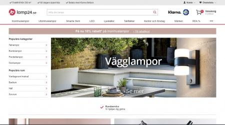 Lamp24 webbplats