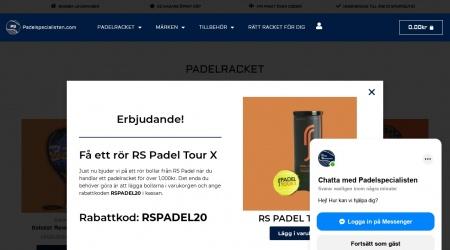 Padelspecialisten webbplats