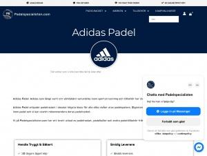 """Avdelningen """"Adidas padel rack"""" hos Padelspecialisten"""