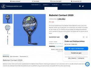 """Avdelningen """"Babolat Contact"""" hos Padelspecialisten"""